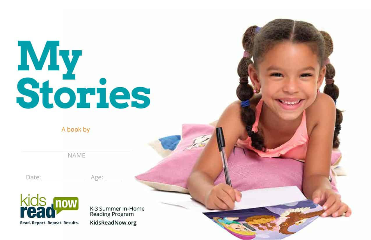 2021 MyStories Cover; child writing